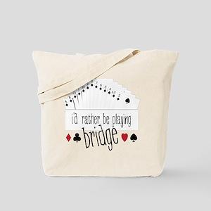 Playing Bridge Tote Bag