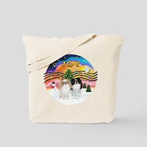 Music2-2Jap Chins (Lem+BW) Tote Bag