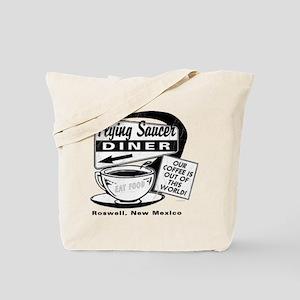 Flying Saucer Diner Tote Bag