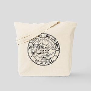Vintage Alaska State Seal Tote Bag
