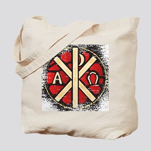 Alpha Omega Stained Glass Tote Bag
