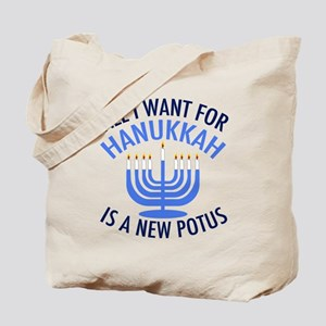 Hanukkah Anti Trump Tote Bag
