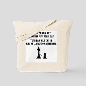 Teach a child chess (Tote Bag)