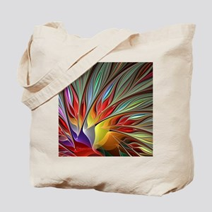 Fractal Bird of Paradise Tote Bag