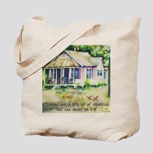 Cousin quote - a little bit of childhood  Tote Bag