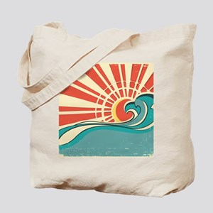 wave at dawn Tote Bag