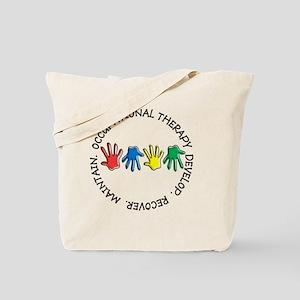OT CIRCLE HANDS 2 Tote Bag