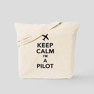 Keep calm I'm a Pilot Tote Bag