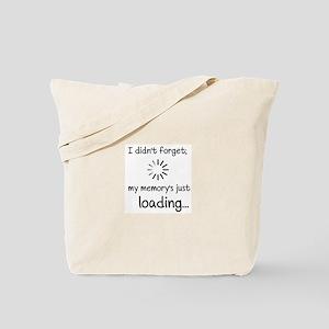 Memory Loading Tote Bag