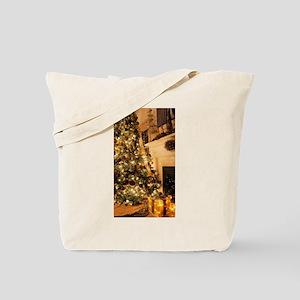 Christmas decor scene golden 2 Tote Bag