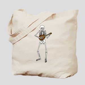 Skeleton Mandolin Tote Bag