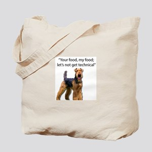 Your Food - My Food Airedale Tote Bag