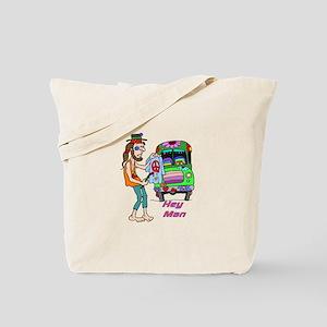Hey Man- Hippie & Van Tote Bag