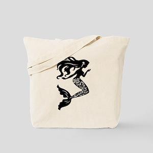 Mermaid silhouette design Tote Bag