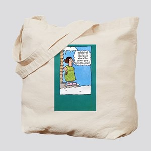 Funny Snowman Tote Bag