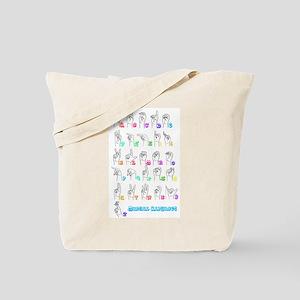 Manual Alphbet Tote Bag