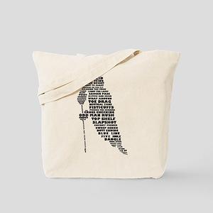 Language of Hockey (skater) Tote Bag