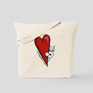 White Schnauzer Lover Tote Bag