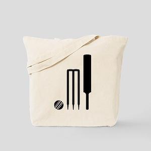 Cricket ball bat stumps Tote Bag