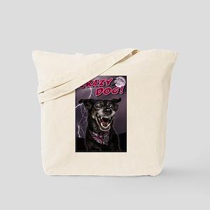 CRAZY DOG! Tote Bag