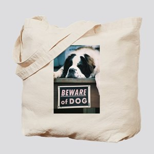 Beware of Dog Tote Bag