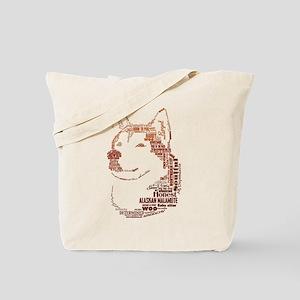 Malamute Words Tote Bag