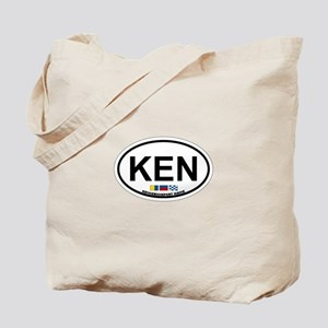 Kennebunk ME - Oval Design. Tote Bag