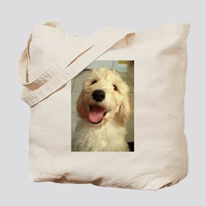 Happy Goldendoodle Tote Bag