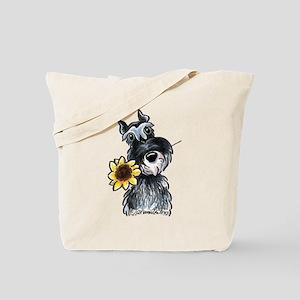 Sunflower Schnauzer Tote Bag