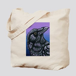 Purple Crow Raven Tote Bag