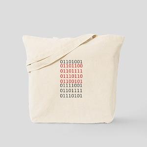 """Say """"I Love You"""" in binary code Tote Bag"""