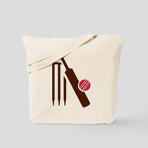 Cricket bat stumps Tote Bag