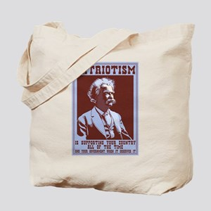 Twain - Patriotism Tote Bag