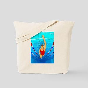 Woman swimming Tote Bag