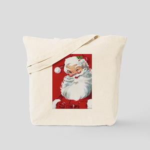 Vintage Christmas Jolly Santa Claus Tote Bag
