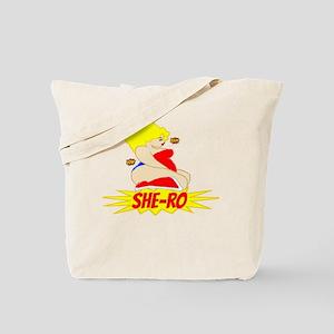 BBW Hero She-Ro Blonde Tote Bag