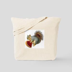 Squirrel Valentine Tote Bag