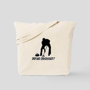 Curling Define Obsessed Tote Bag