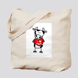 I Love Moo Cow Tote Bag