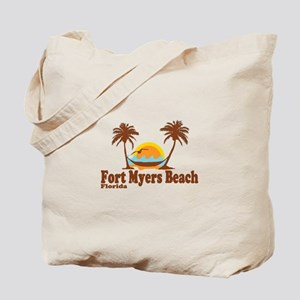 Fort Myers - Palm Trees Design. Tote Bag