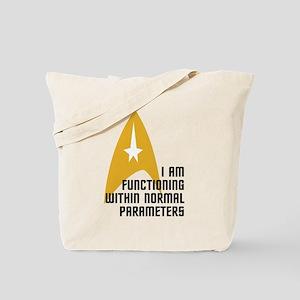 Star Trek - Normal Parameters Tote Bag