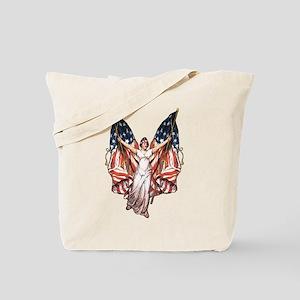 Vintage American Flag Art Tote Bag