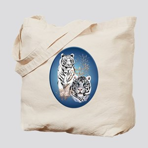 White Tigers Shirts Tote Bag