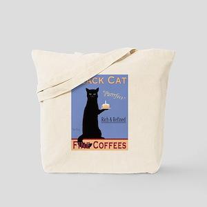 Black Cat Coffee Tote Bag
