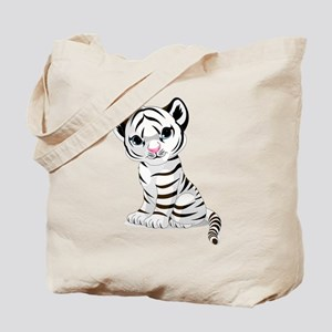 Baby White Tiger Tote Bag