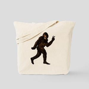 Bigfoot Yeti Sasquatch Peace Tote Bag