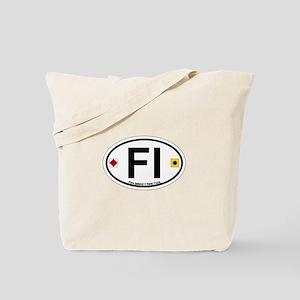 Fire Island - Oval Design Tote Bag