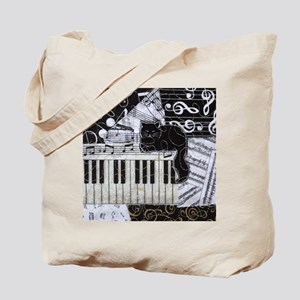 keyboard-sitting-cat-ornament Tote Bag