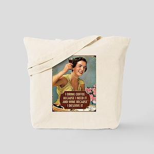 Drink Wine Tote Bag
