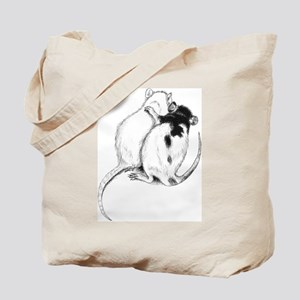 Rat Hug Tote Bag
